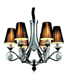 Хрустальная подвесная люстра Lumina Deco Negrio LDP 8903-6