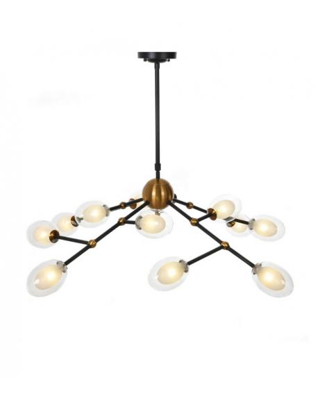 Подвесной светильник Lumina Deco Crocus LDP 7002-12 BK+MD
