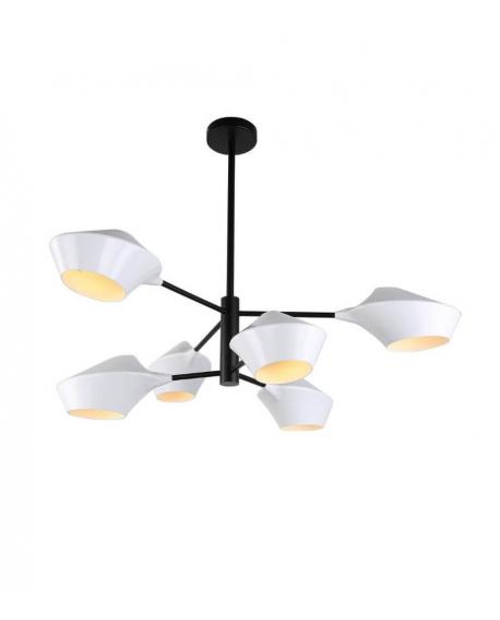 Подвесной светильник Lumina Deco Romina LDP 6037-6 WT+BK