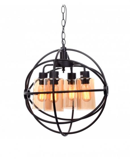 Подвесной светильник Lumina Deco Stradi LDP 11509-4 BK